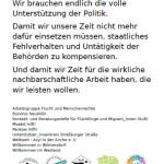Flyer mehrerer Initiativen zum Dankeschön-Tag am 31.1.16