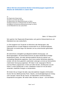 Offener Brief aller Initiativen