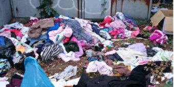 Müll vor der Spendenkammer